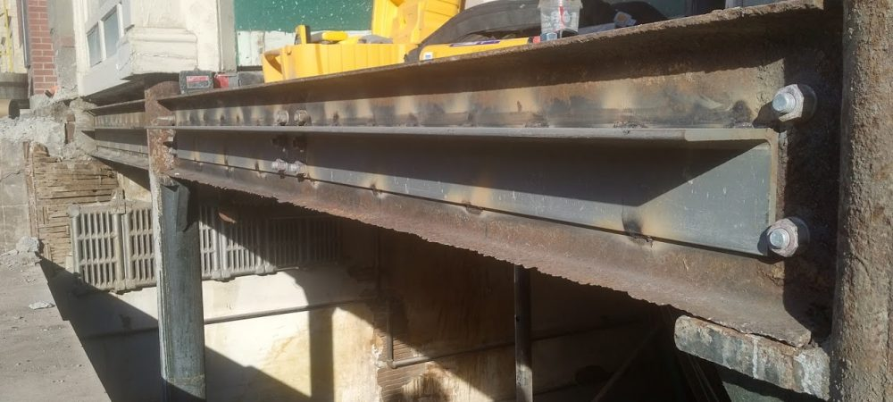 Fort Macleod Sidewalk Replacement Steel Structure