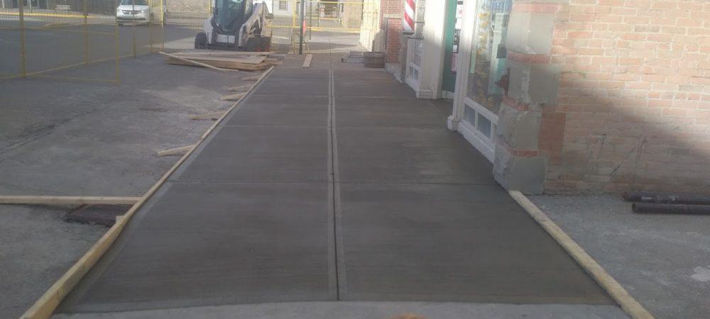 Fort Macleod Sidewalk Replacement Concrete Finished