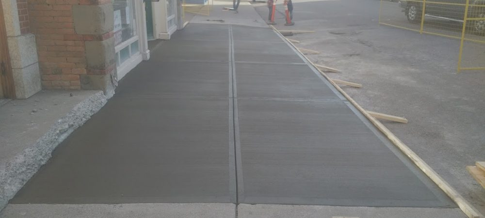 Fort Macleod Sidewalk Replacement Front Shot